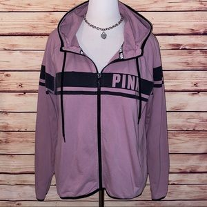 VS PINK Dusty Mauve Campus Full Zip w/Thumbholes